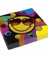 Vrolijke kleurige servetten smiley trend