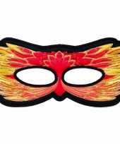 Vuurvogel oogmasker rood geel voor kinderen trend