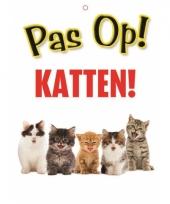 Waakbord pas op katten 21 x 15 cm trend