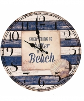 Wand klok the beach trend