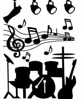 Wand sticker muziek instrumenten trend