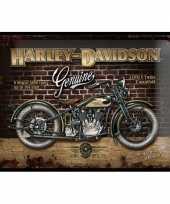 Wanddecoratie harley davidson 30 x 40 cm trend 10068592