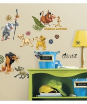Wanddecoratie stickers lion king trend