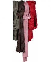 Warme donkerroze sjaal 176 cm trend