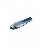 Warme kampeer slaapzak blauw met grijs 210 x 80 x 50 cm trend