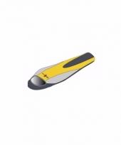 Warme kampeer slaapzak geel met grijs 210 x 80 x 50 cm trend
