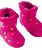 Warme kindersloffen roze trend
