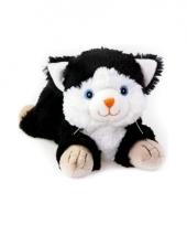 Warme knuffel kruik zwarte kat huisdier 18 cm trend