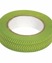 Washi tape visgraat groen trend