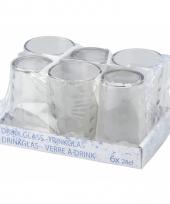 Water glazen 6 stuks trend