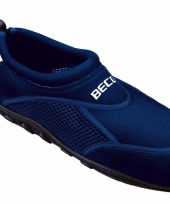 Waterschoen navy met anti slip zool trend