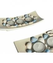 Waxinelichthouder met schelpen trend