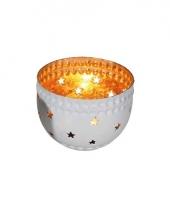 Waxinelichthouder met sterren goud trend