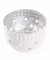 Waxinelichthouder met sterren zilver trend