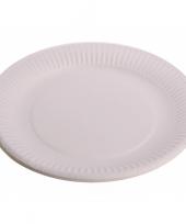 Wegwerp borden wit 23 cm trend