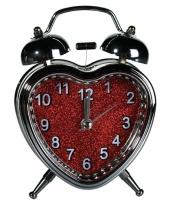 Wekker in hartvorm 13 cm trend