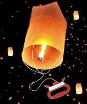 Wensballon met vliegertouw 75 cm trend