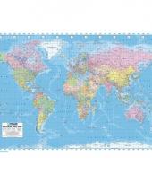 Wereld topografie poster trend
