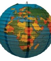 Wereldbol lampion 41 cm trend