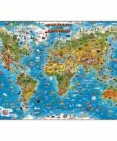 Wereldkaart voor kinderen trend