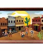 Western stad poster 59 x 42 cm trend