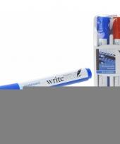 Whitetboard stiften rood en blauw met wisser trend