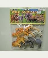 Wilde dieren van plastic zes stuks trend