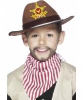 Wilde westen hoed bruin voor kids trend