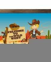 Wilde westen poster 59 x 42 cm trend
