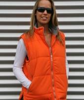 Winddichte oranje bodywarmer voor dames trend