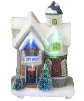 Winter huisje gift shop led licht trend