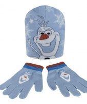 Winter set kids frozen olaf blauw trend