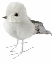Winterdecoratie vogel met glitters type 3 trend