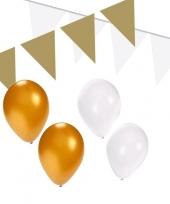 Wit gouden feest versiering pakket small trend