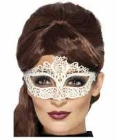 Wit kanten oogmasker voor dames trend
