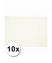 Wit knutselpapier a4 formaat 10 stuks trend