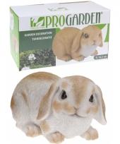 Wit konijn beeldje 28 cm trend