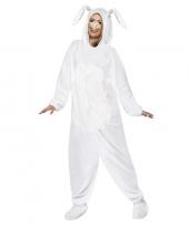 Wit konijn haas kostuum voor volwassenen trend