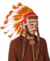 Wit oranje luxe indianen tooi voor heren trend