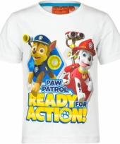 Wit paw patrol t-shirt voor kinderen trend