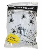 Wit spinnen web met spinnen trend