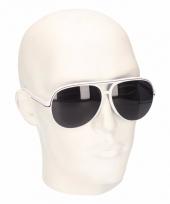Witte aviator heren zonnebril model 5613 trend