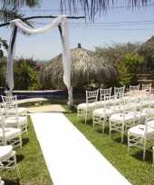 Witte decoratie loper 1 meter breed trend