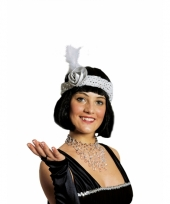 Witte flapper haarband trend