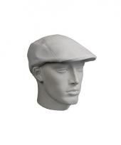 Witte flat cap van kunststof trend