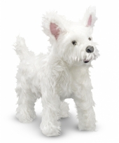 Witte highland terrier knuffels 40 cm trend