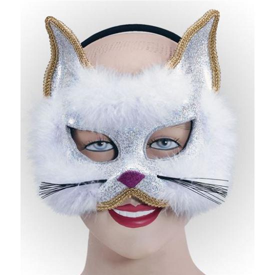Witte katten maskers trend