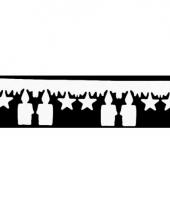 Witte kerstslinger met kaarsen trend