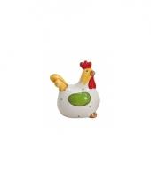 Witte kippen deco beeldje 8 cm trend