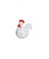 Witte kippen deco beeldje 9 cm trend
